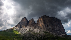 Nature pure (Peter Hungerford) Tags: mountains dolomites clouds sun shadow italy