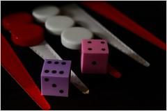 Dice Erasers Macro Mondays (T.Seifer : )) Tags: macromondays macro erasers colours red white pink purple nikkor dice d700
