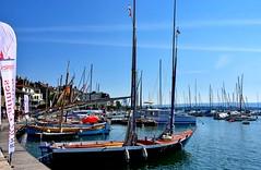 L'Aurore (Diegojack) Tags: morges vaud suisse d7200 nikon nikonpassion manifestation voiles latines port ancien bateaux barques aurore pointus groupenuagesetciel