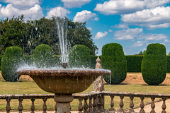 Creating a splash (Keith in Exeter) Tags: fountain water splash spray cooling refreshing garden montacutehouse nationaltrust somerset tree balustrade sky landscape