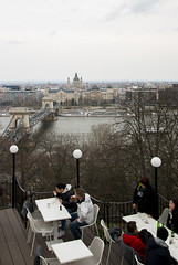 Cafe with a view (HansPermana) Tags: buda budacastle budapest hungary ungarn magyar eu europe europa centraleurope city cityscape oldtown oldbuilding architecture tourists spring april 2018