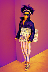 Heatmap (Deejay Bafaroy) Tags: fashion royalty fr doll puppe integrity toys kieron kieronmorel colorinfusion homme male portrait porträt black schwarz blue blau sunglasses sonnenbrille shoes schuhe jacket jacke stripes streifen striped gestreift painting bild gemälde art kunst morel color infusion yellow gelb lilac purple violett lila abstract heatmap abstrakt