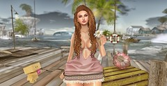 ♚ Look #509 ♚ (Caity Saint) Tags: nyne hair anybody uber event seniha summer beach reveobscura pose flower bento sl secondlife pixels