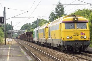 BB67617 + BB67548 + BB67472 - Train 66634 Rennes>St-Pierre-des-Corps