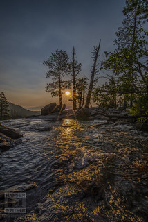 Sunrise at the waterfall