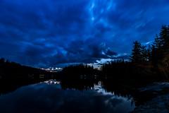 Blue time of blue hopes (nickneykov) Tags: nikon d750 nikond750 irix 15mm irix15mm bulgaria dam shirokapoliana blue twilight mountain water trees