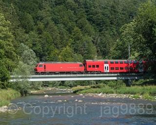 SIH430 Sihltalbahn Railroad Bridge over the Sihl River, Thalwil - Sihlwald, Canton of Zurich, Switzerland
