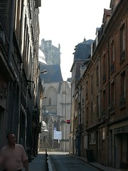 A look down an alley in Rouen