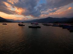 Phewa Lake Sunset, Pokhara, Nepal (CamelKW) Tags: abc annapurnabasecamptrek annapurnaregiontrek annapurnasanctuary fishtail kathmandu mbc machapuchare machapucharebasecamp nepal pokhara trekking