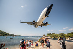 Incoming (Andrew Thomas 73) Tags: greece skiathos airport plane landing island sea