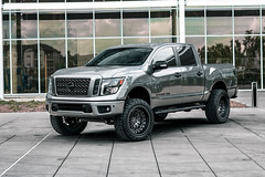 Nissan Titan V8 on Black Rhino Fury 22in wheels - 4 (tswalloywheels1) Tags: gray grey nissan titan titanv8 v8 off road offroad truck suv aftermarket wheels wheel rim rims alloy alloys fury mesh concave 22x115 22in gunmetal