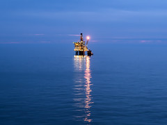 North Sea Mill Pond (Craig Hannah) Tags: oilrig oil gas northsea offshore platform reflection light scotland rig sea craighannah june 2018 work canon photography still millpond flat calm night twilight