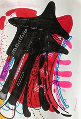 Jim Harris: Interceptor Prototype. (Jim Harris: Artist.) Tags: dessin zeitgenössische zeichnung drawing space cosmos technology technik