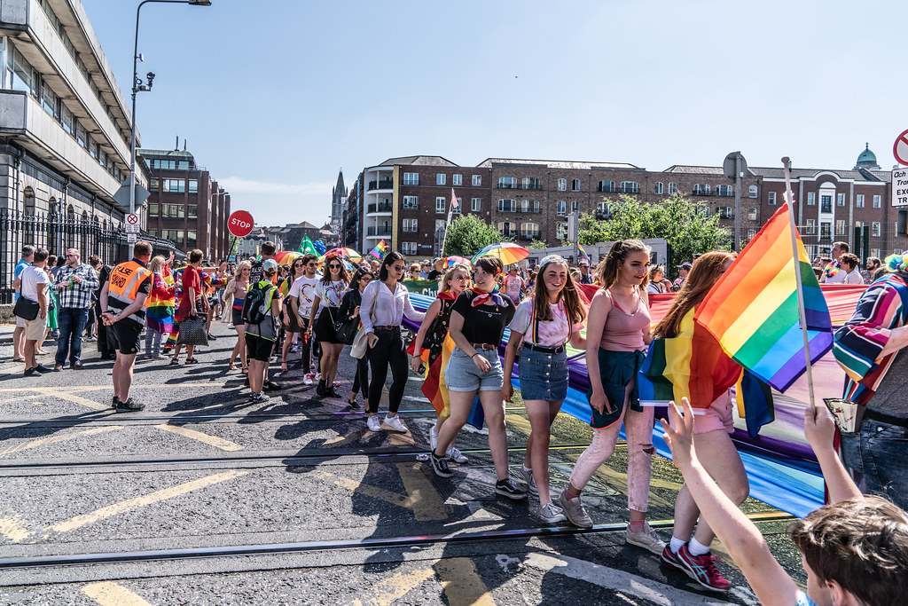 ABOUT SIXTY THOUSAND TOOK PART IN THE DUBLIN LGBTI+ PARADE TODAY[ SATURDAY 30 JUNE 2018] X-100060