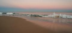 The Pacific sleeps (OzzRod (on the wallaby)) Tags: pentax k1 smcpentaxa20mmf28 dusk sea ocean swell breaker wave earthsshadow beachface swash reflection beach dailyinjune2018 pentaxart dixonpark newcastle