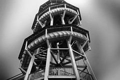 === the wooden tower === (christikren) Tags: austria wooden woodenslide madeofwood toboggan blackwhite christikren fun grey history linescurves monochrome outdoor panasonic perspective tourist vienna wien holzrutschenturm holz amusementpark tower