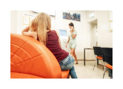 Waiting... (Alexandr Voievodin) Tags: waiting girl room chairs table monitor xiaomiredminote2
