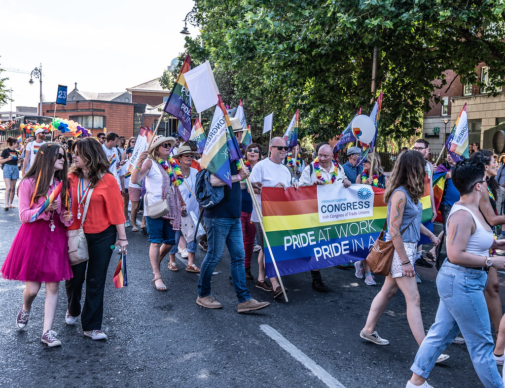 ABOUT SIXTY THOUSAND TOOK PART IN THE DUBLIN LGBTI+ PARADE TODAY[ SATURDAY 30 JUNE 2018] X-100106