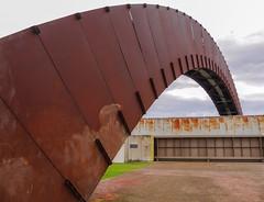Take it to the bridge (Adaptabilly) Tags: sculpture usa bridge travel neworleans patina architecture industry louisiana lumixgx7 geometry