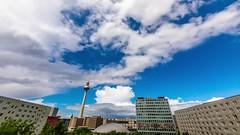 Wilde Wolken (Robert.B. Photography) Tags: wolken sonne himmel zeit geschwindigkeit zeitraffer blau berlin alexanderplatz stadt canon5dmarkiv clouds sun sky time speed timelapse blue city