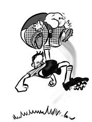Goooooooooooooooaaaaaaaaaaaaaallllllllllll!!!!!!!!! (Scruffy Mynxbane) Tags: redcard goal worldcup soccer futbol fussball bicycle kick willy nutpunch 1x5games digitalillustration ipadproprocreate