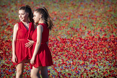 Poppy twins (Cristiano Pelagracci) Tags: poppy flowers flower umbria red girl girls people