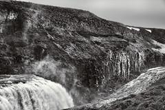 Falling Water 2 (pni) Tags: monochrome stone rock canyon ice snow landscape view hvítá river water waterfall gullfoss is18 iceland ísland pekkanikrus skrubu pni