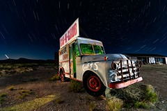 Gas-n-Grub. 2018 (Aztravelgrl (Forgotten Places Photography)) Tags: arizona route66 usa lightpainting longexposure lowlight nightphotography valentine mainstreetamerica startrails
