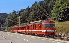 SGA BDeh4/4 13 (maurizio messa) Tags: appenzell switzerland svizzera schmalspurbahn sga ab bdeh44 yashicafxd elettromotrice mau bahn ferrovia treni trains triebwagen triebzug triebzuge railway railroad railcar