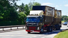 PO58 KWX (Martin's Online Photography) Tags: volvo fm02 truck wagon lorry vehicle freight haulage commercial transport a580 leigh lancashire nikon nikond7200