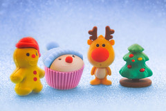 last christmas (gian_tg) Tags: macromondays erasers christmastree reindeer cupcake snowman rubber snoweffect christmas gingerbreadman