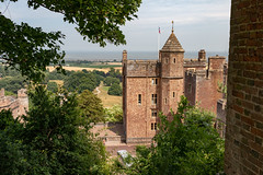 Dunster Castle landscape (Keith in Exeter) Tags: castle dunster exmoor nationalpark landscape tree woodland field sea building architecture tower gatehouse castellation somerset steam train mansion nationaltrust england english