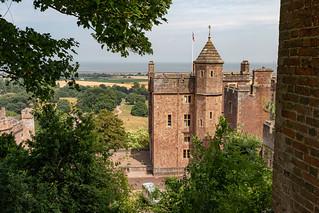 Dunster Castle landscape