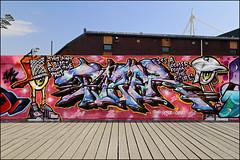 Tizer (Alex Ellison) Tags: cardiff wales uk urban graffiti graff boobs tizer id millenniumwalk halloffame