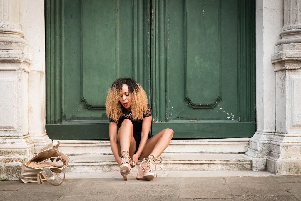 Ebony σέξι πόδια