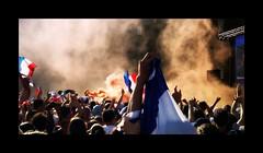 Victoire! (kate053 (peu présente)) Tags: coupedumonde france foot victoire evron mayenne placedelabasilique