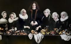 France: Sabine Pigalle, 'Dutch last supper' (Henk Binnendijk) Tags: saintsandsinners sabinepigalle art photoart thelastsupper apostles france frankrijk châteaudurivau jesus christ janvaneyck