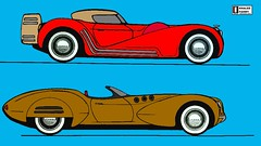 """El Jeffe""  and ""Alegre cabriolet"" concepts (Khaled Fahmy : Auto design) Tags: 2017 2018 2019 supercars hypercars ferrari laferrari 458 488 gtb p4 lamborghini countach aventador sv miura reventon veneno bugatti veyron pagani huayra zonda porsche carrera 918 917 vector w2 w8 corvette stingray 2016 mustang ford gt kyosho auto art minichamps 118 diecast delahaye delage osten jaguar mclaren m20 can am p1 f1 designer blueprint drawings blue print bertone pininfarina centenario mercedes amg red bull x2010"