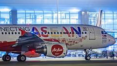 Air Asia Airbus A320 9M-AHX Bangalore (BLR/VOBL) (Aiel) Tags: airadia airbus a320 9mahx bangalore bengaluru canon60d tamron70300vc