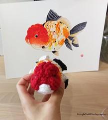 IMG_20180721_121001_662 (Mingle Doll 鳴娃娃) Tags: crochet crochetgoldfish crochetfish amigurumi amigurumidoll crochetamigurumi oranda orandagoldfish fancygoldfish 金魚 かぎ針編み金魚