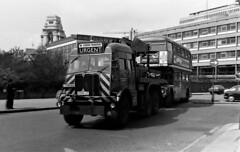 London transport AEC Militant breakdown truck 1456MR. (Ledlon89) Tags: aec routemaster rm bus buses lt lte london londonbus londonbuses transport londontransport accident towerhill crash breakdowntruck 1970s 1976 damaged damage parkroyal manatador vintagebuses aecmilitant militant
