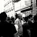 Dark Waves (Jesús Simeón) Tags: calle callepreciados madrid tardedeverano theaudienceislistening summer summerafternoon darkwaves amongtheliving blackwhite streetphotography
