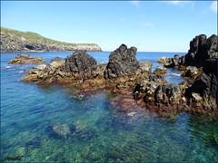 Invitation for swimming ! (Armelle85) Tags: extérieur nature paysage mer océan eau rochers couleurs lave ciel falaise côte