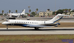 N980CC LMML 23-07-2018 (Burmarrad (Mark) Camenzuli Thank you for the 12.9) Tags: airline air charter aircraft bombardier bd7001a10 global express xrs registration n980cc cn 9235 lmml 23072018 private