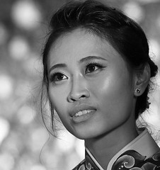 At a traditional wedding in Hanoi - Vietnam (lotusblancphotography) Tags: asia asie vietnam travel voyage people gens wedding mariage portrait monochrome blackandwhite