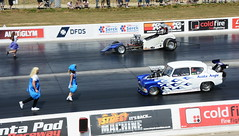 Backing up_1423 (Fast an' Bulbous) Tags: drag race car vehicle motorsport fast speed power acceleration racecar santapod outdoor