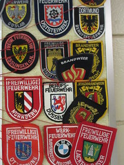 Achtung! Feuer!! (trilliumgirl) Tags: fire feuer badges german firehall station revelstoke bc british columbia canada volunteer professional