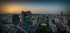 Hazy Beirut Sunet (stevebfotos) Tags: sinelfil mountlebanongovernorate lebanon lb bei beirut sunset sun sky cityscape