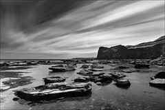 Deepgrove Wyke (darrenball189) Tags: mono beach landscape sea water nature sky beautiful longexposure blackandwhite black outdoor white monochrome seascape ocean summer bnw tone beauty rock long exposure coast shore horizon dramatic reflection clouds waves cloud stone bw tranquil slowshutter rocky dark moody nobody maritime seaside rockpools coastline longexposurewater monotone contrast nopeople blurred blurry