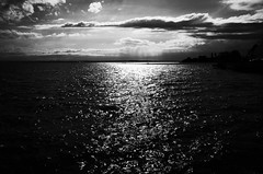 Blackwater ahead (stefankamert) Tags: stefankamert blackwater noir noiretblanc water clouds landscape lakeconstance bodensee friedrichshafen blackandwhite blackwhite ricoh gr grii ricohgr light grain lake